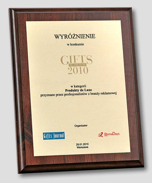 """Gifts of the Year 2010″ award for ""Books as exclusive presents"""