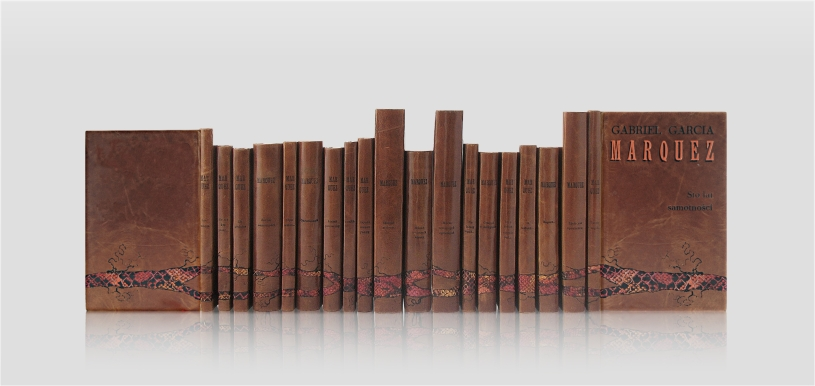 Marquez Gabriel Garcia - collected works - home library - collector's edition - luxury hand-made bookbinding