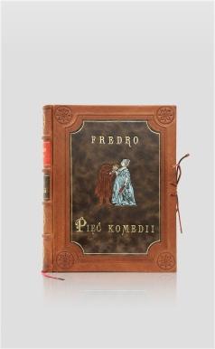 Fredro Pięć komedii - oprawa skórzana